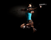 BlueButterfly as Lara Croft