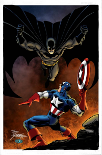 Batman, Captain America from Ross Hughes