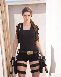 Maid Of Might Cosplay as Lara Croft