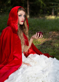 Veron Model as Little Red Riding Hood