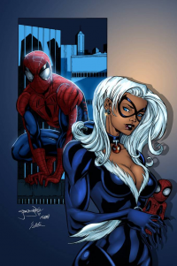 Spider-Man, Black Cat from Gat Melvyn