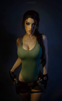 Freia Raven as Lara Croft