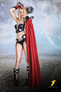 Kc Rikku Cosplay as Thor