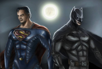 Batman, Superman from charlielogan