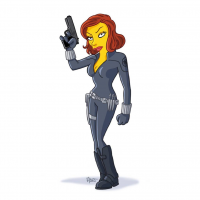 Black Widow/The Simpsons from Adrien Noterdaem