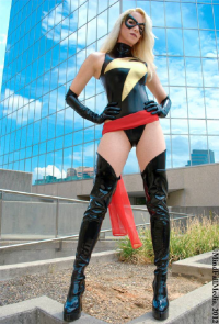 Leaping Leigh as Ms. Marvel