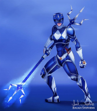 Blue Power Ranger from Isaiah Stephens