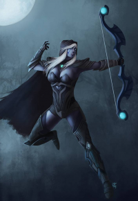 Drow Ranger from clown72