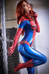 Vicky Bunny Angel as Mary Jane Watson/Spider Girl