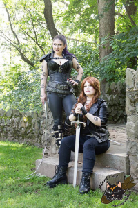 Princess Nightmare as Izzy Lightwood, Mistress Jessie as Clarissa Fairchild