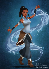 Princess Tiana/Korra from Isaiah Stephens