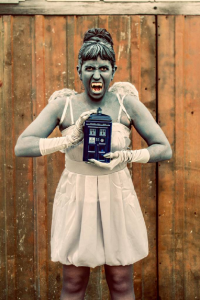 Duchess Silk as Weeping Angel