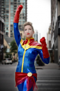 The Geekstress as Captain Marvel