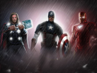 Thor, Captain America, Iron Man from Commando-kev