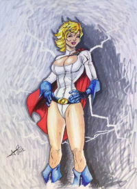 Power Girl from Jimcrilley