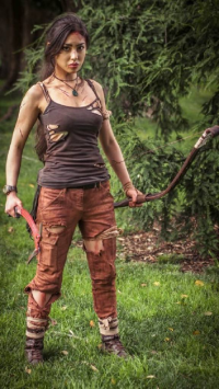 Elventanz as Lara Croft