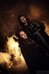 Amethyst Prince Cosplay as Jon Snow, Ari_Anna cosplay as Sansa Stark