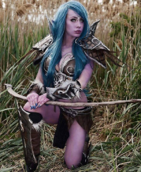Elise Cosplay as Tyrande Whisperwind