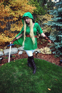 Evie Evangelion as Link