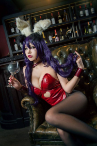 煙-HedY cosplayer as Ahri/Bunny