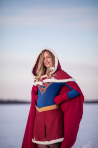 MJ Lavallee as Supergirl