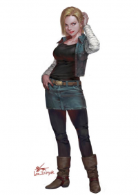 Android 18 from Inhyuklee85