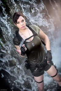 Lilly Fortune as Lara Croft
