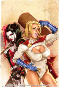 Harley Quinn, Power Girl from J-Estacado