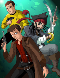James T. Kirk, Captain Jack Sparrow, Jack Harkness from Joel Green