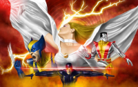 Wolverine, Emma Frost, Colossus, Cyclops from Guillermo Prestegui