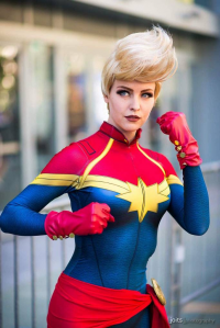 Maid of Might Cosplay as Captain Marvel