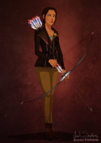 Pocahontas/Katniss Everdeen from Isaiah Stephens