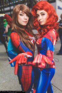 Jessakidding Cosplay as Spider Girl, Justagh0stgirl Cosplay as Spider Girl
