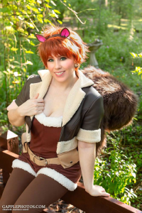 Pink Justice Cosplay as Squirrel Girl