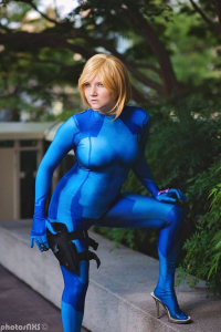 Santana Cosplay as Samus Aran
