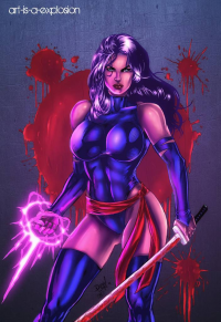 Psylocke from Art-is-a-explosion