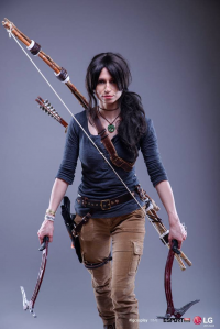 Ethlaine as Lara Croft