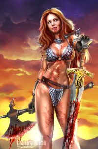 Red Sonja from Fernando Neves Rocha