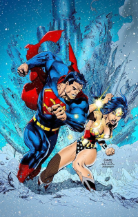 Superman, Wonder Woman from archaeopteryx14