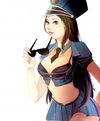 Caitlyn/Officer from AhFish  Art