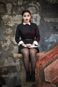 Cherry B Cosplay as Wednesday Addams
