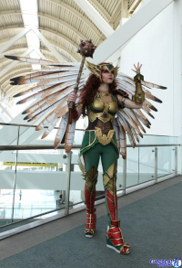 Axceleration Cosplay as Hawkgirl
