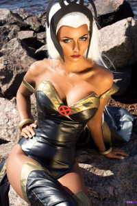Kristy C H E Cosplay Art as Storm