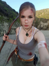 Charmie Sweets as Lara Croft