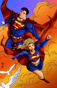 Superman, Supergirl from Theburncycle