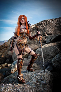 Andy Rae Cosplay as Barbarian