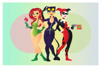Poison Ivy, Harley Quinn, Catwoman from Indy Lytle