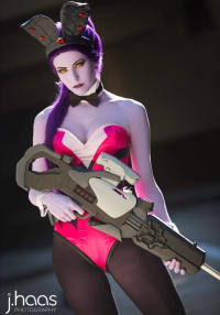 Maid Of Might Cosplay as Widowmaker/Bunny