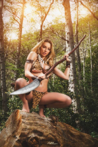 Xx Lindsey P as Jungle Girl