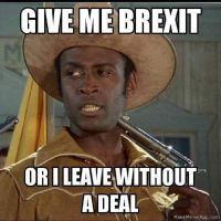 Give me Brexit or I leave without a deal